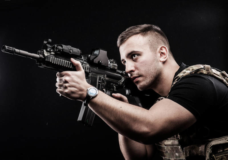 Show off your 007 shooting skills with assault rifle shooting