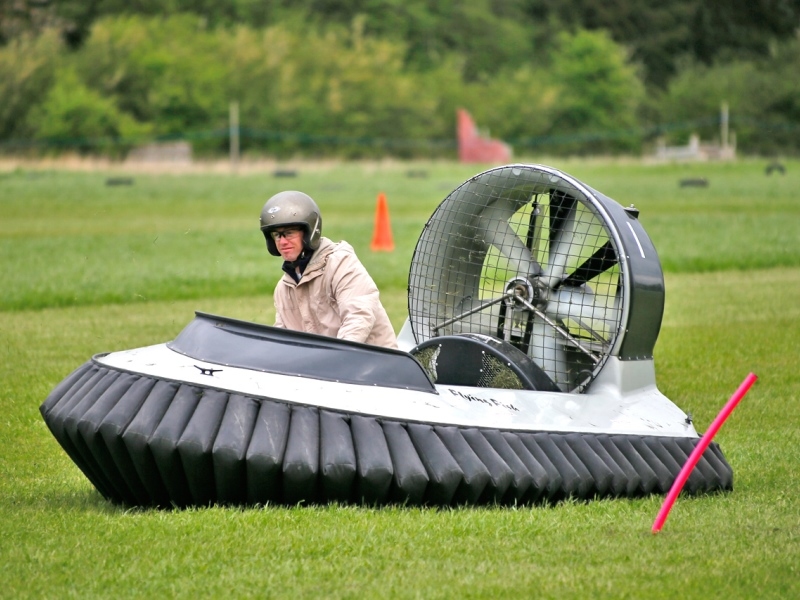 Hovercrafts are a great driving stag do idea