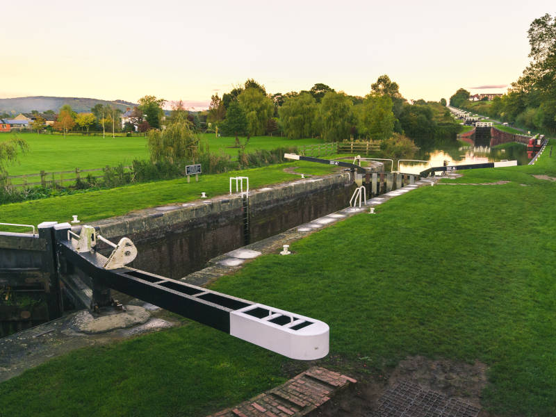Caen Lock flight will at least inspire awe on your canal boat stag do trip