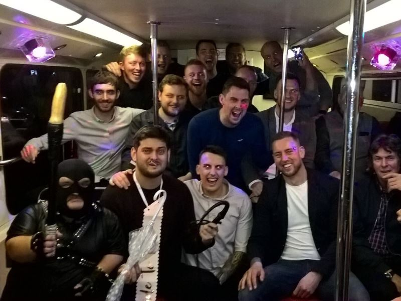 Dress the stag as a gimp for his stag do fancy dress