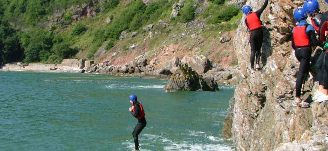 Thrill Seeker Package  Coasteering in Newquay, Minimum 8 people