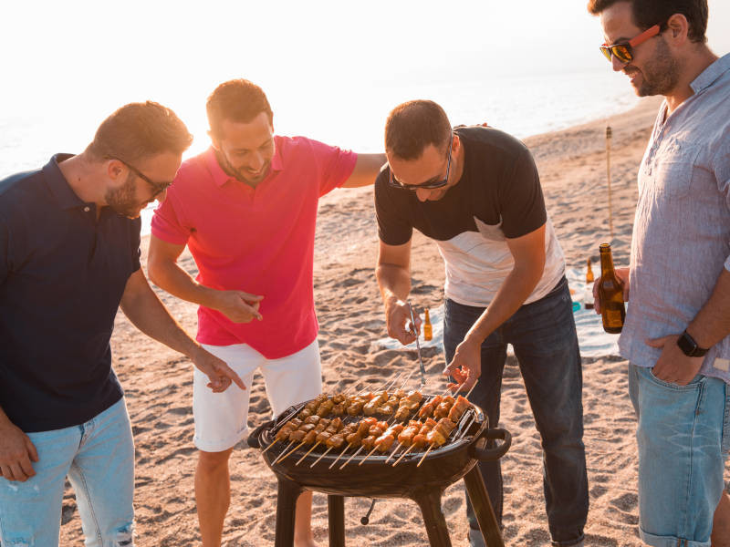 Enjoy a BBQ on a great relaxed stag do
