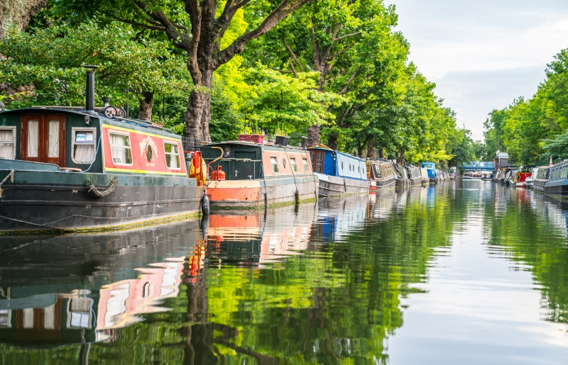A canal boat trip is one of the best accommodation stag do ideas