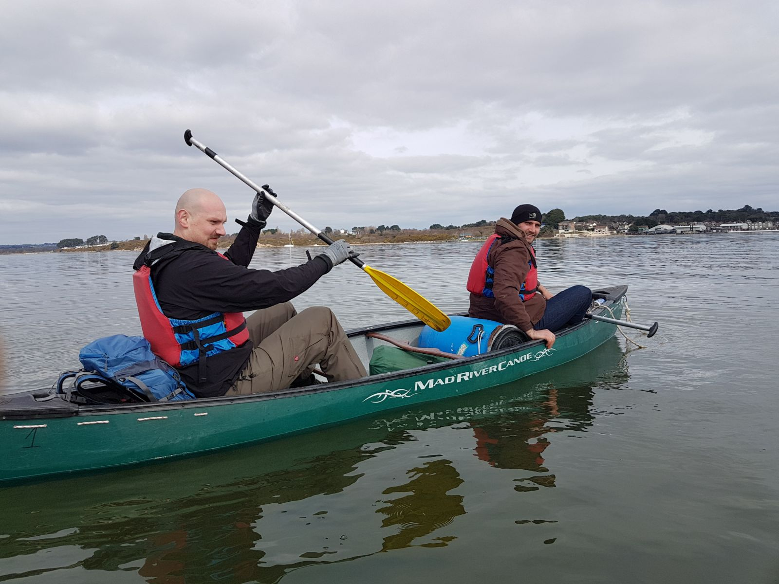 Poole Harbour is great for a canoeing and bushcraft stag do