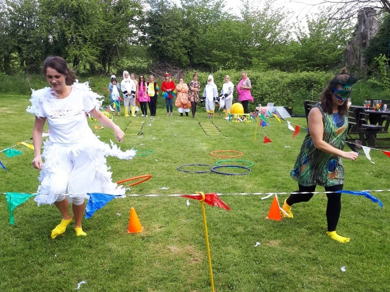 Have a hen party school sports day at your accommodation