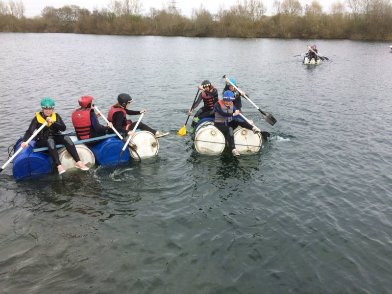 Raft building is a great summer stag do idea