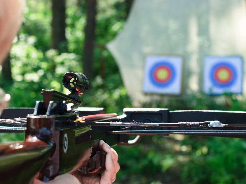 Crossbow shooting is an awesome idea for a stag weekend shooting game