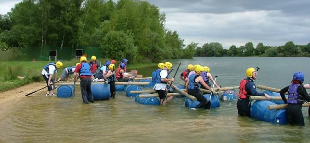 Raft Building, Low Ropes & Shooting Activities Day Raft Building