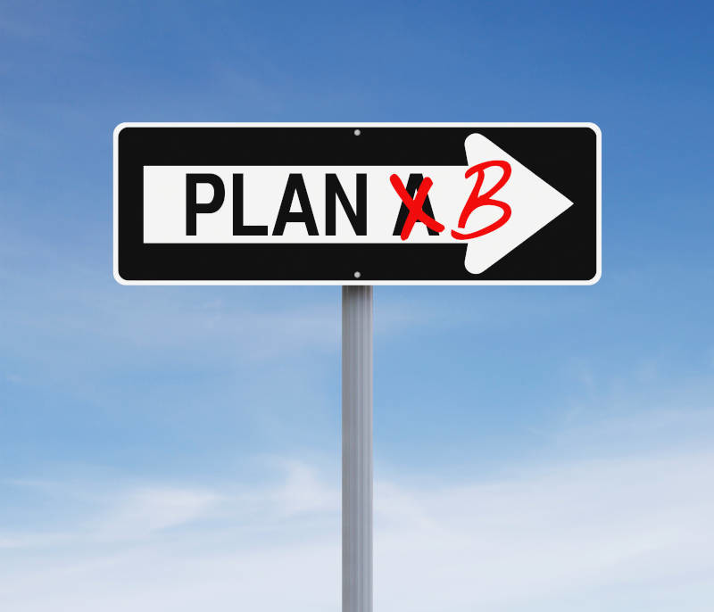 Make Sure You Have A Plan 'B' In Case Something Goes Wrong