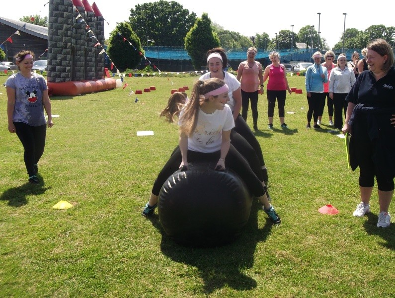 It's A Knockout is a great and sporty hen party idea