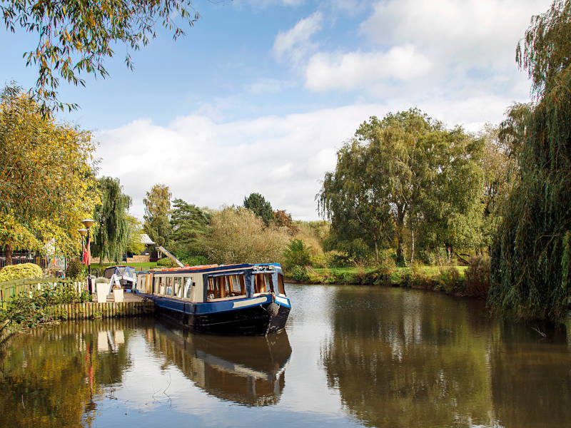 Explore some beautiful countryside on an off-grid canal boat stag do weekend