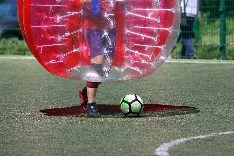 Zorb football is a great summer stag do activity