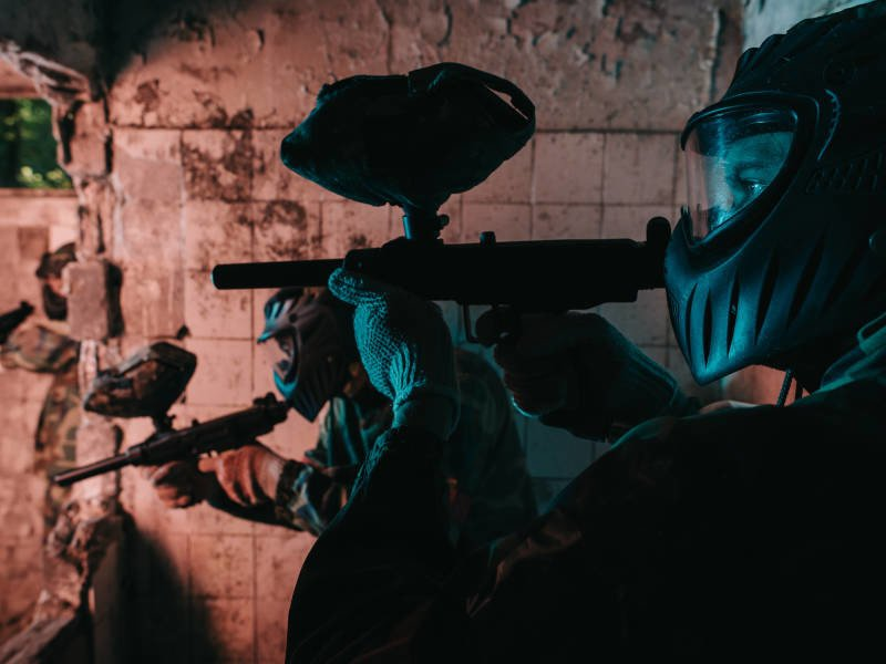Indoor paintball is a great winter stag do idea